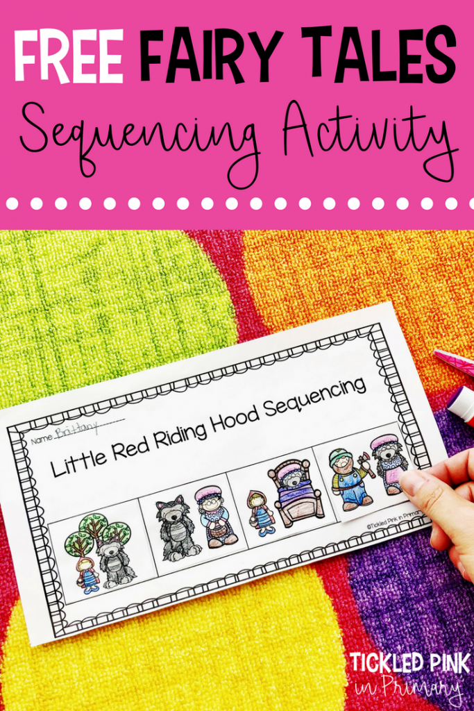Grab this FREE sequencing worksheet for the fairy tale Little Red Riding Hood. This and many more activities are included in my Fairy Tales Bundle.