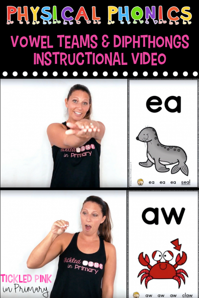 Physical Phonics Vowel Teams And Diphthongs Instructional Video