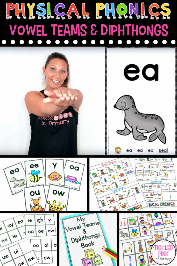 Physical Phonics Vowel Teams And Dipthongs