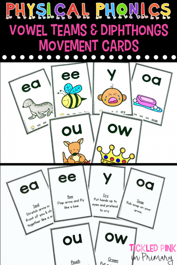 Physical Phonics Vowel Teams And Diphthongs Movement Card