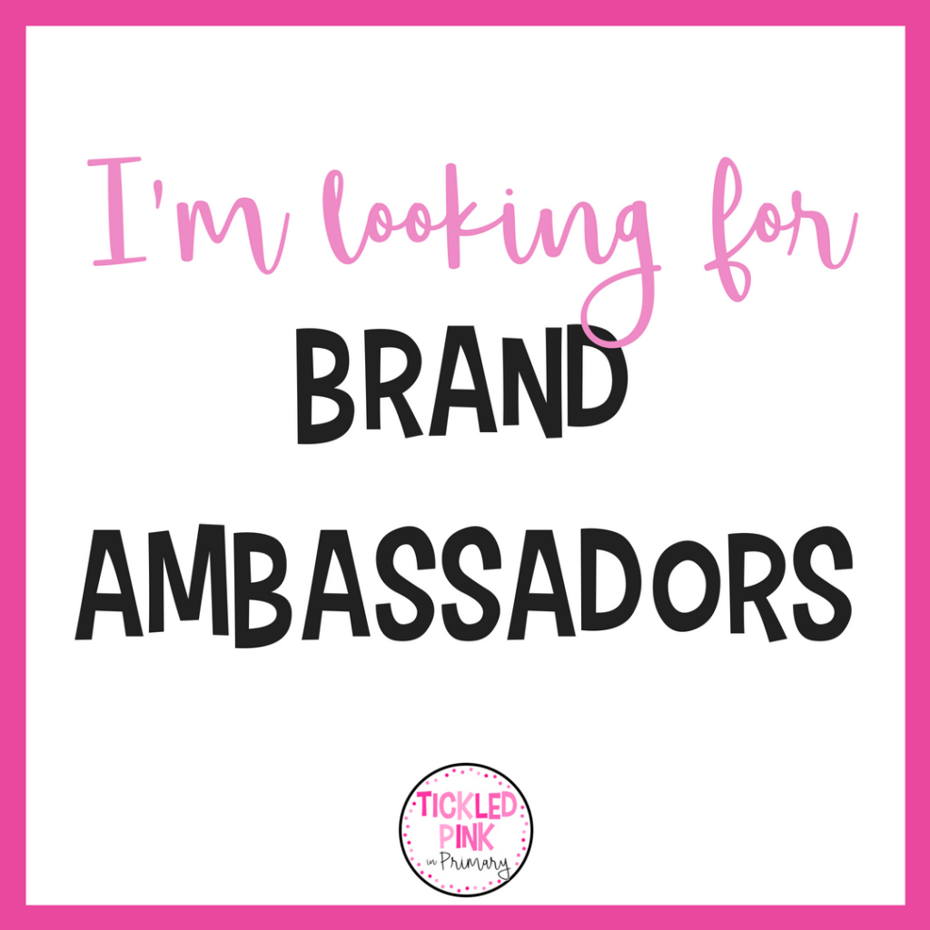 Become a Tickled Pink in Primary brand ambassador!