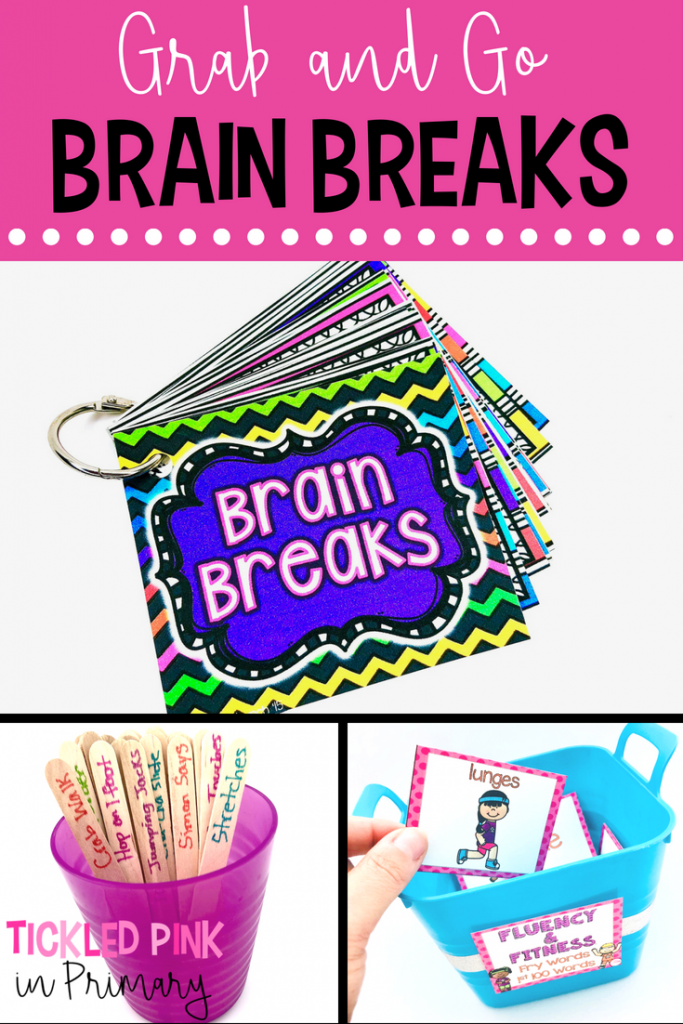 Giving students some brain breaks throughout the day, can actually improve their learning. Check out these quick brain breaks that you can just grab and go!