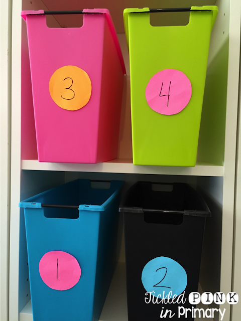 Using a number system with your students makes labeling things for Back to School a breeze!