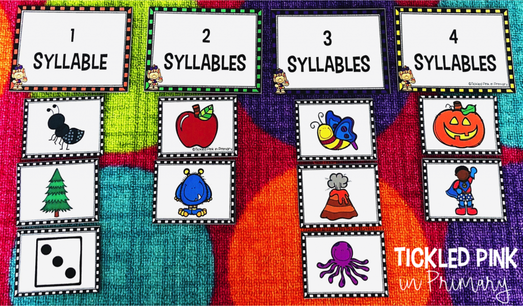 FREE Halloween Syllable sorting game