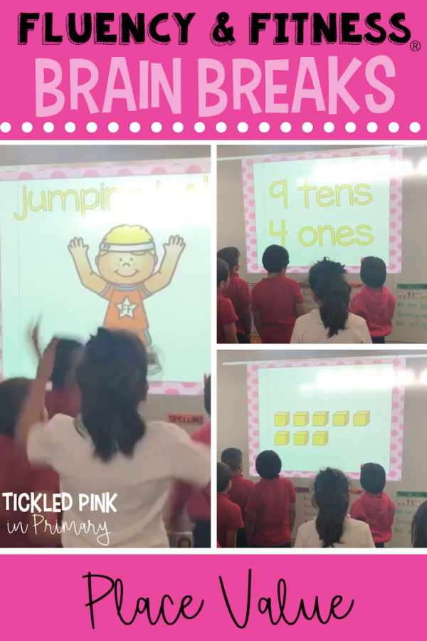 place value practice using fluency and fitness brain breaks in the classroom