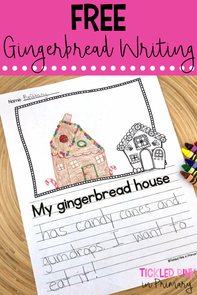 Making Gingerbread Houses in the Classroom - Free Gingerbread Writing