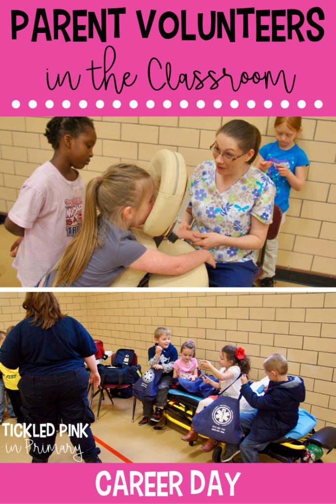 Parent Volunteering In The Classroom Career Day