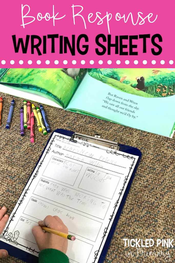 Writing in the Classroom - Book Response Writing Sheets