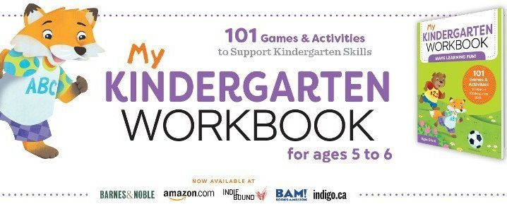 My Kindergarten Workbook has 101 games and activities to keep kids engaged while learning.