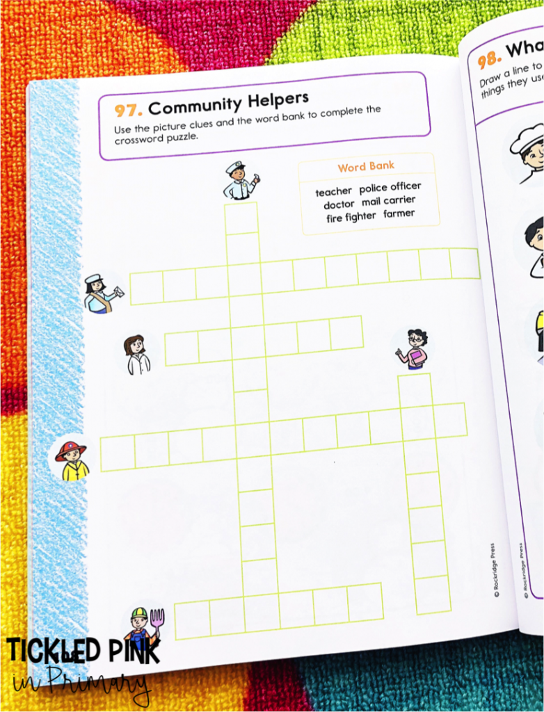 Social Studies Crossword Puzzle | Community Helpers