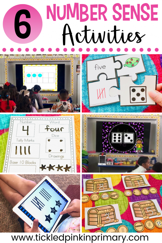 6 number sense activities photo collage