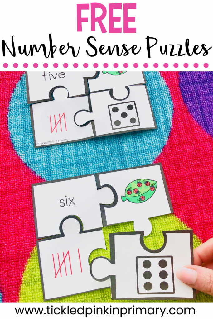 free puzzles for number sense activities