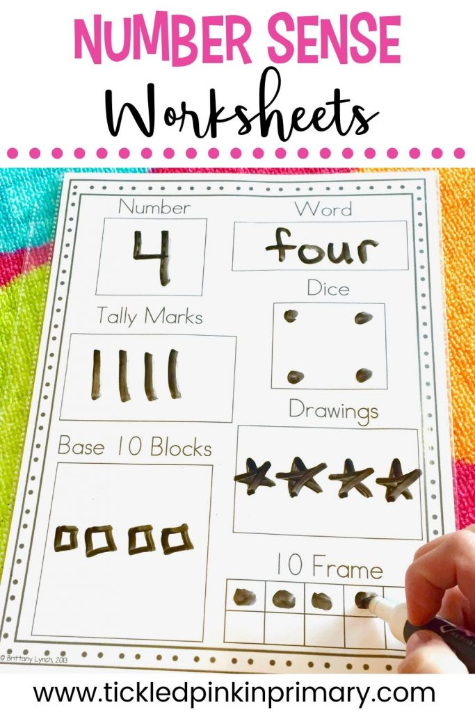 worksheet showing all the ways to make 4