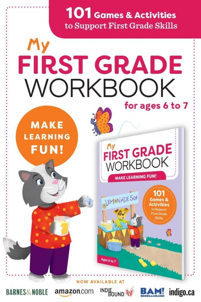 my first grade workbook promo image