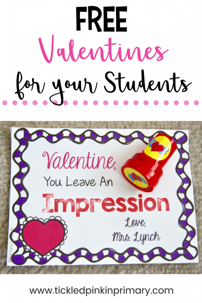 free student valentine's day cards with a stamp