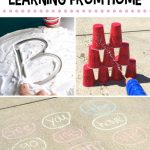 collage photo of 3 activities to do at home with kids
