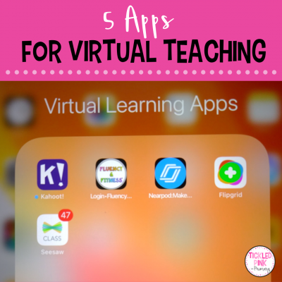 apps on an iPad screen that help with virtual teaching