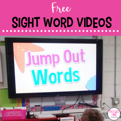 Free interactive videos for teaching sight words.