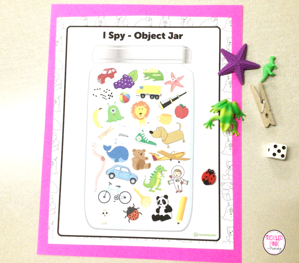 Free I spy oral language learning resource.