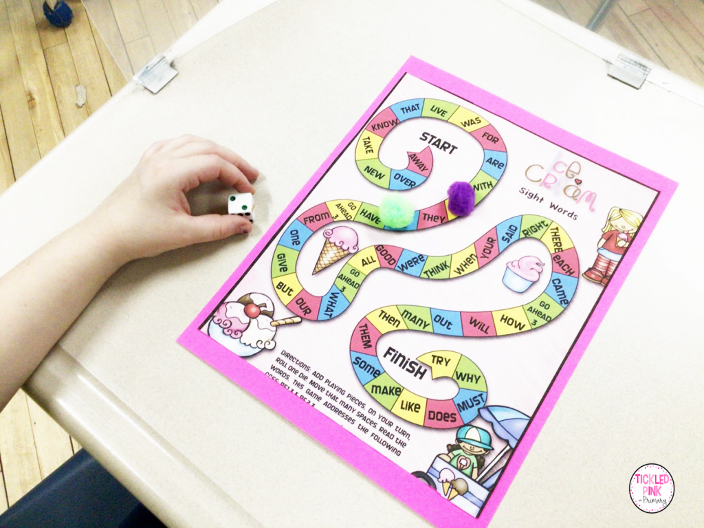 Free teaching resource includes 10 colorful reading games.