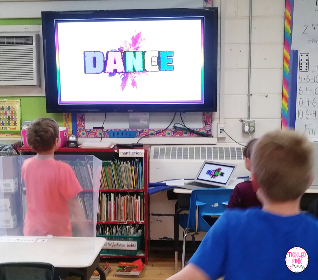 Kids participating in Sandz Academy's free interactive First Grade Sight word video.