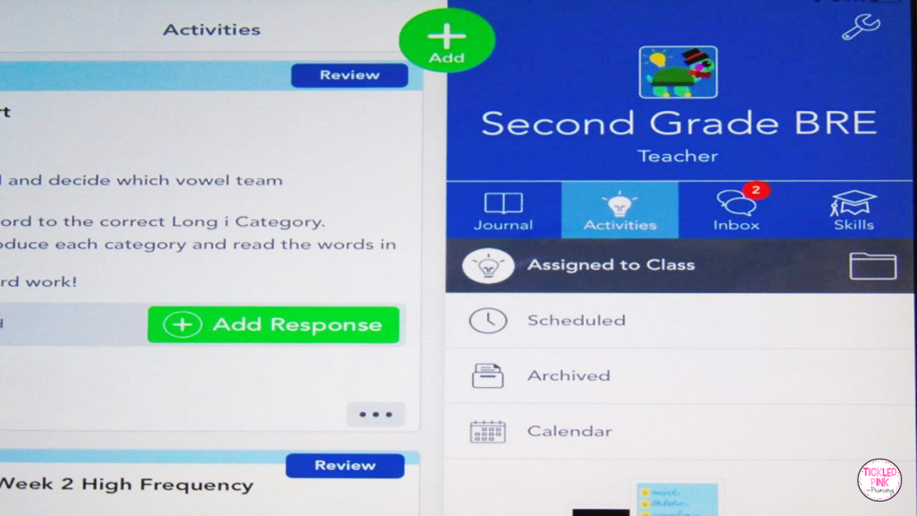 Seesaw virtual learning app