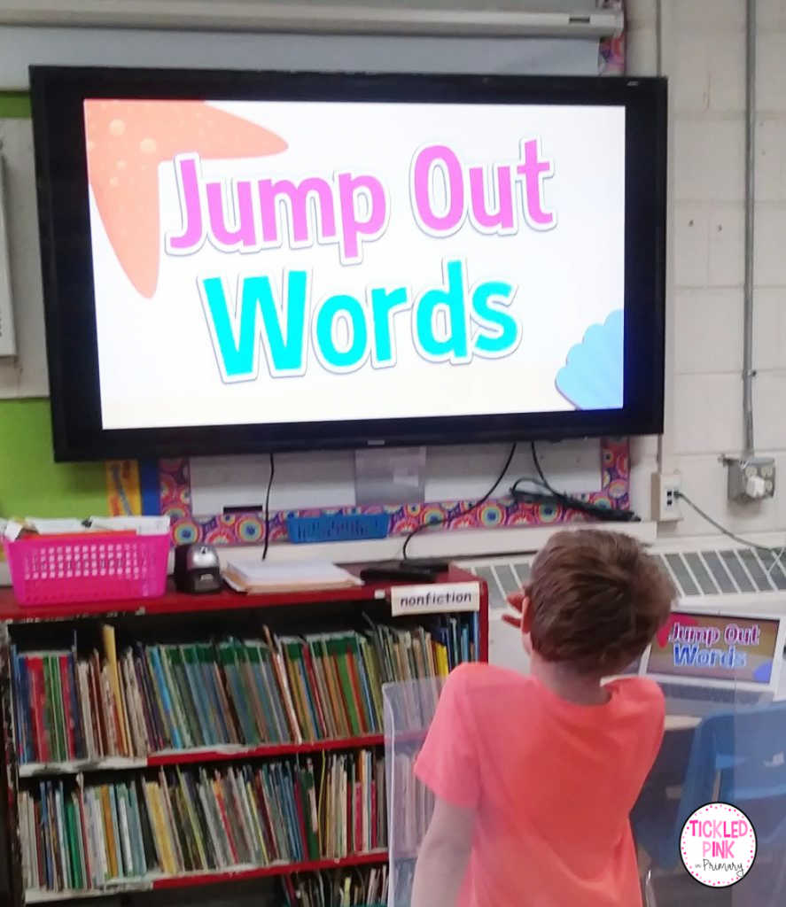 Free interactive sight word video - Jump Out Words