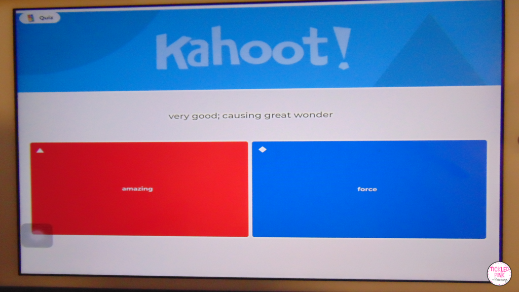 Kahoot student question response for virtual teaching and learning