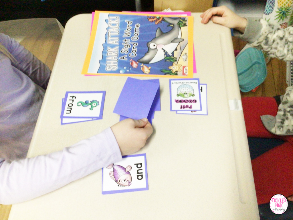 Free ocean themed sight word resource.