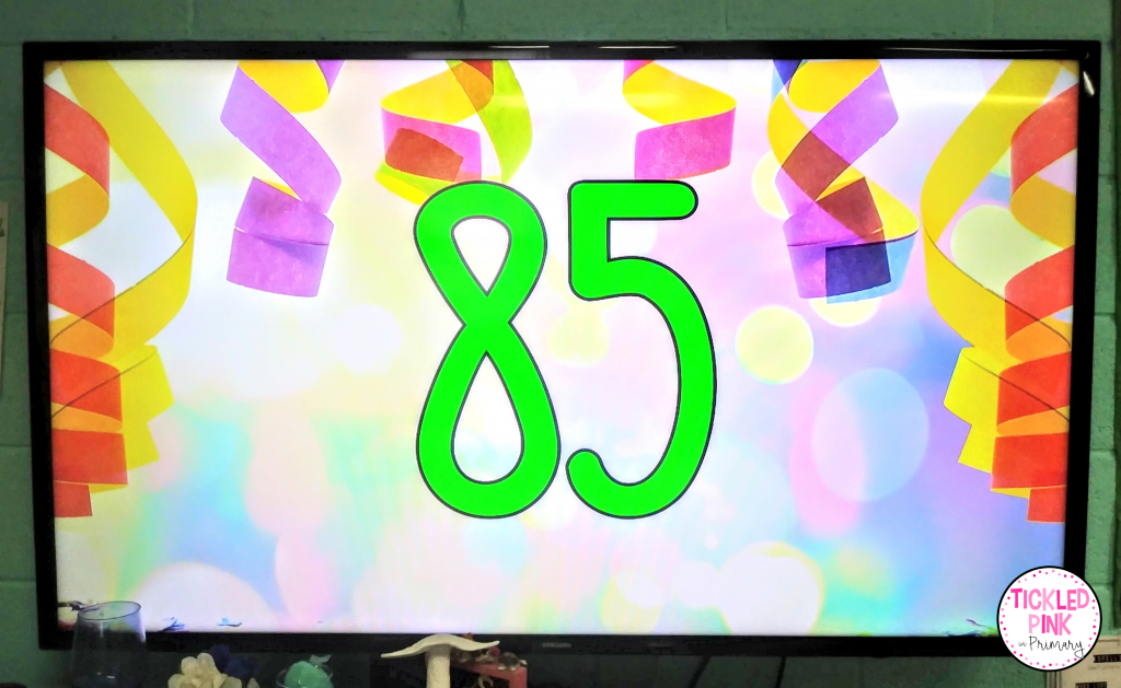 Kid counting by 5's during this counting fiesta!