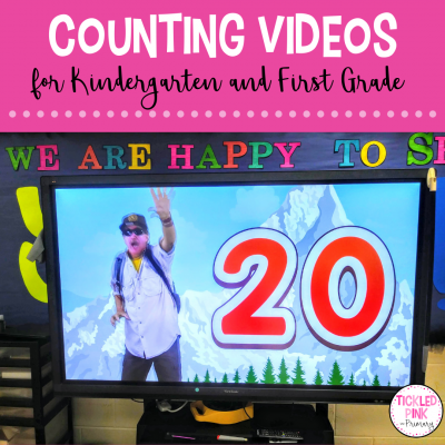 Math videos for engaging counting practice daily in grades Kindergarten and First. Kids sing. dance, and exercise while counting!