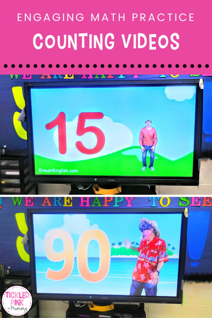 Kids practice counting by 1's 5's and 10's along with engaging dance videos!