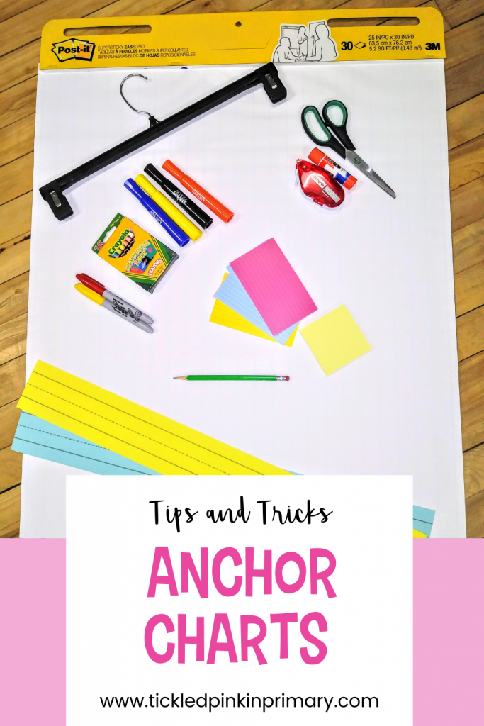 Anchor chart tips and tricks for the k-2 classroom.