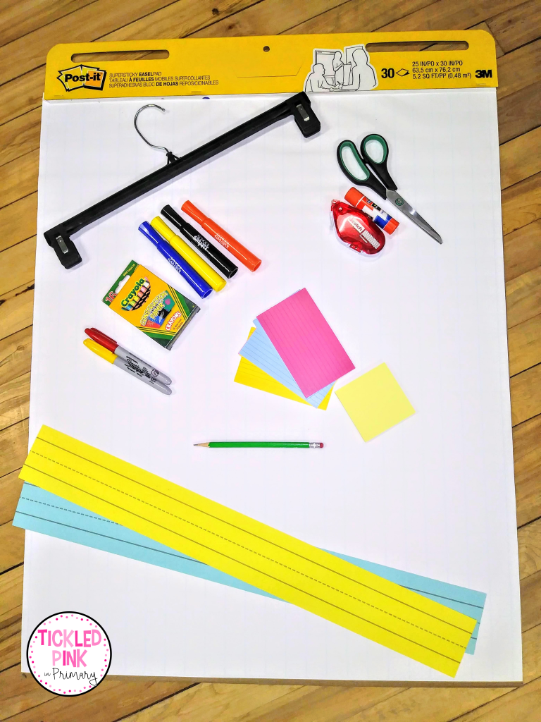 Materials for creating anchor charts for the classroom.