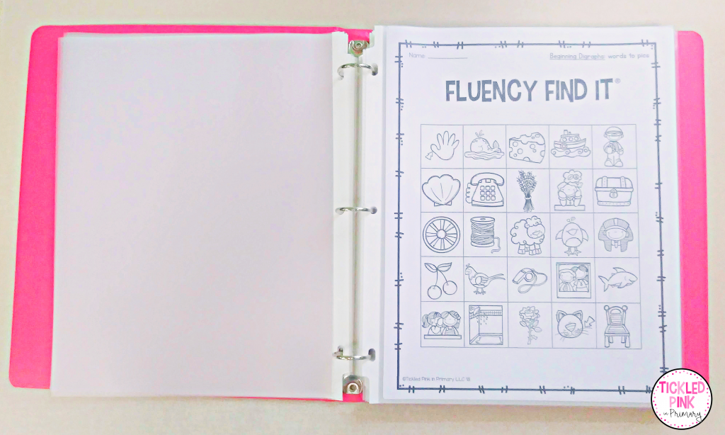 Store lesson originals in a three-ring binder to save time when planning lessons in the classroom.