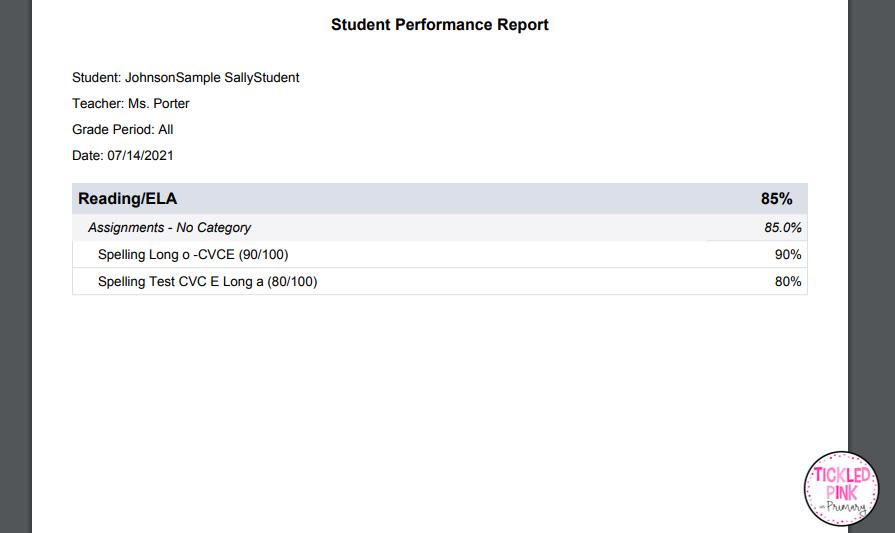 Time saving grade reports with planbook.com.