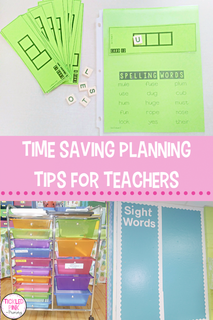 Save time planning with these great time saving tips for teachers.
