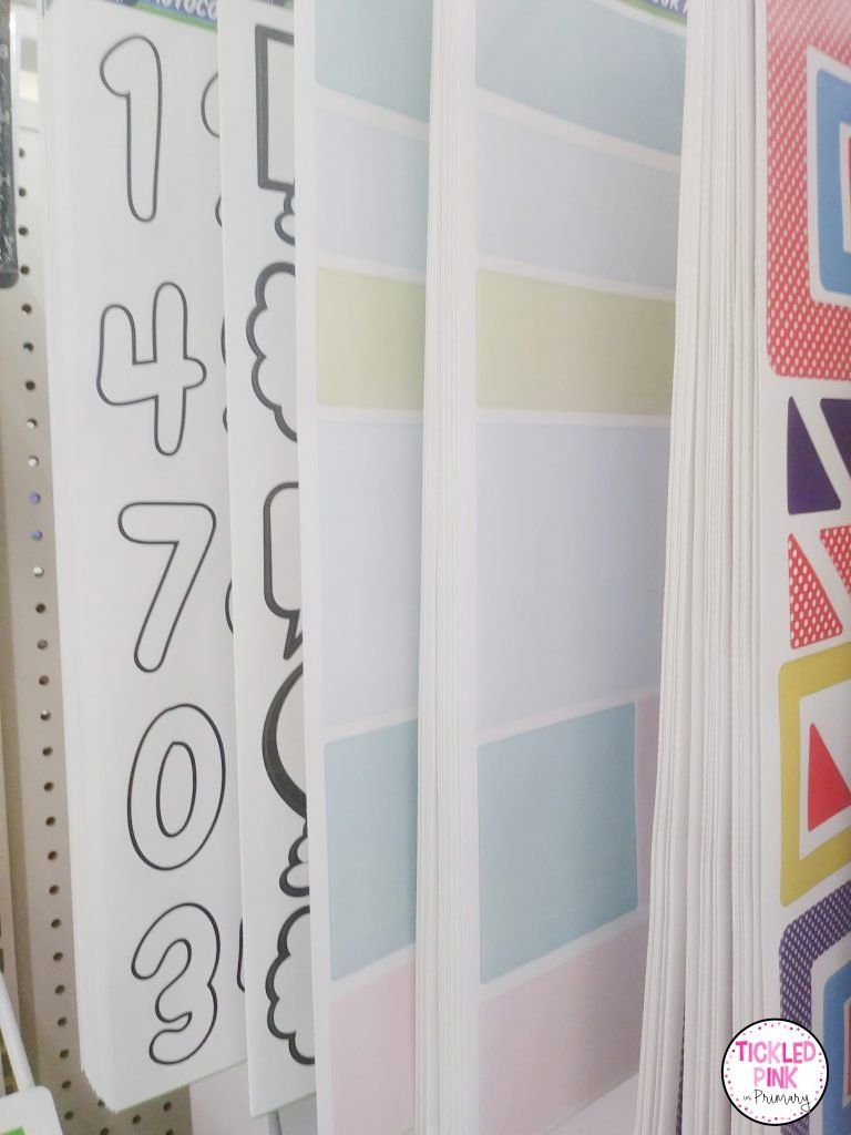 Labels and decorations for classrooms from the dollar tree.