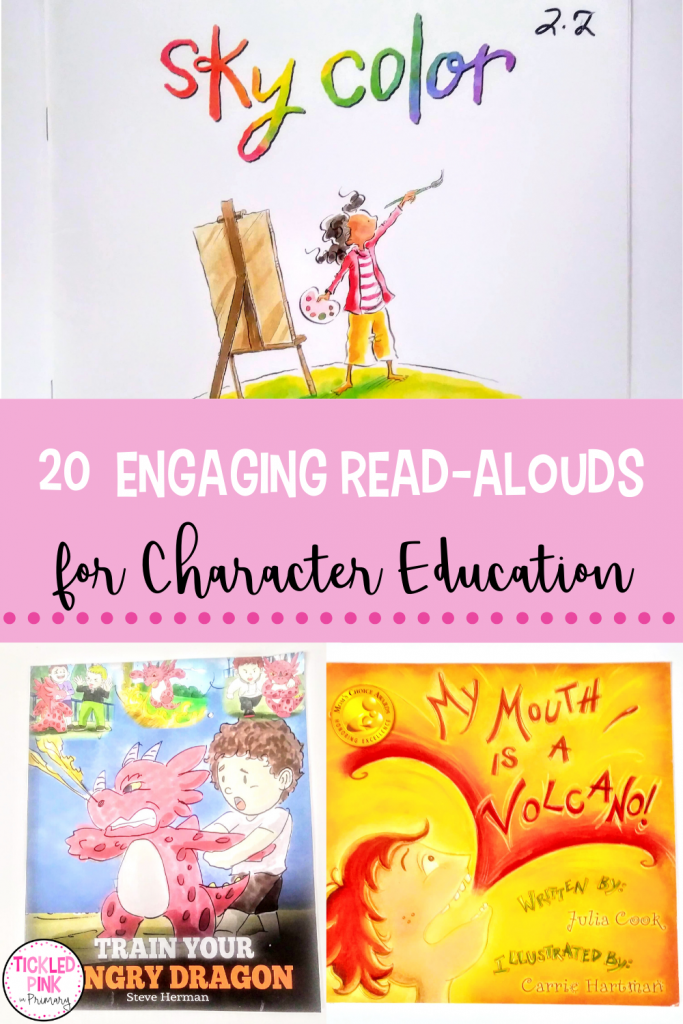 20 Engaging Read-Aloud books for character education lessons.