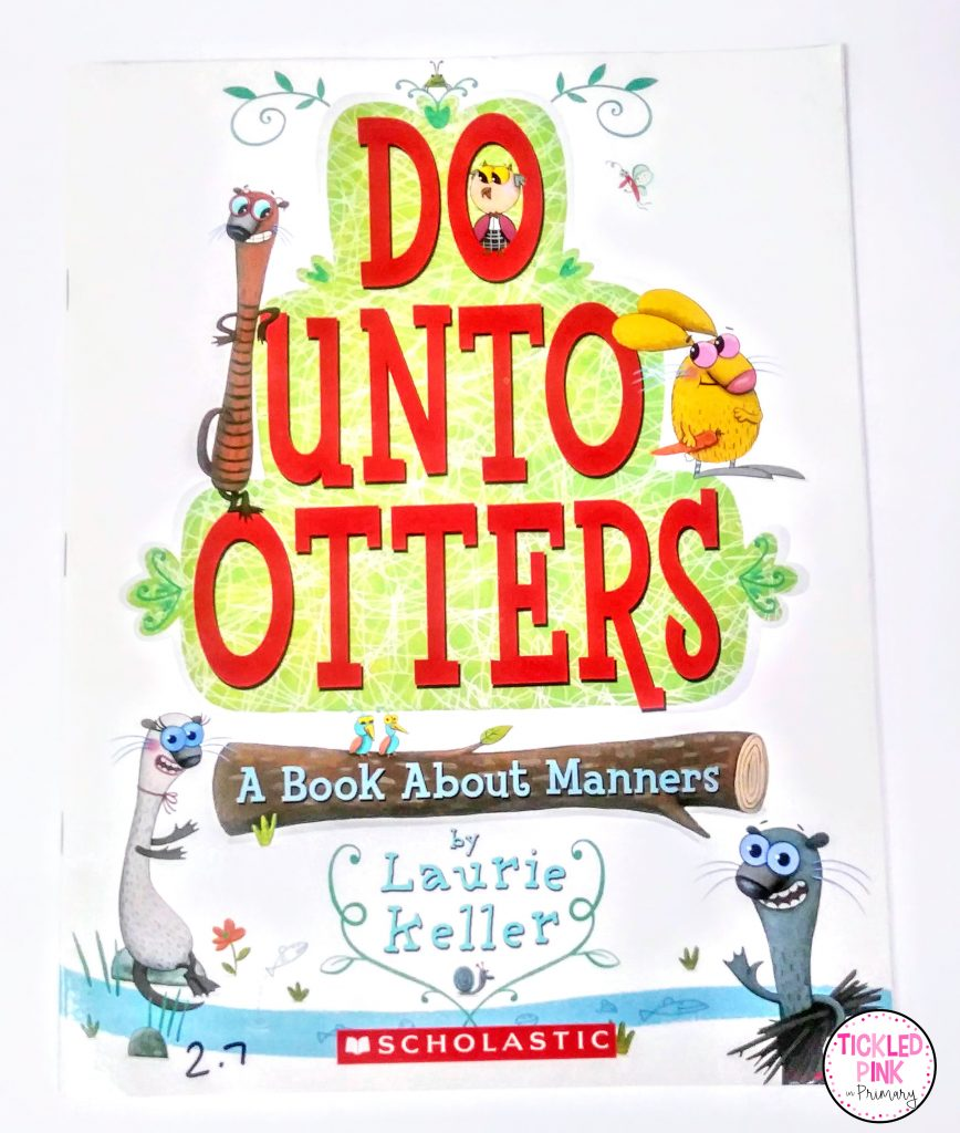 Do Unto Otters read aloud for teaching manners when teaching character education.
