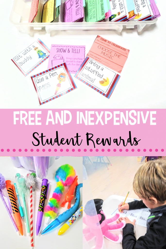 Free and inexpensive student rewards for the classroom.