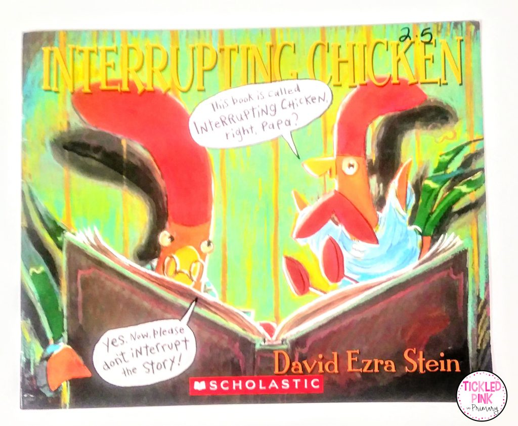 Interrupting Chicken read aloud book a great read for character education with a focus on manners.