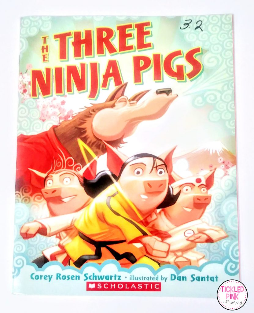 The Three Ninja Pigs read aloud book is great for teaching the importance of setting goals.
