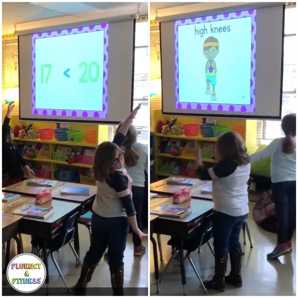 Let students choose a brain break like Fluency and Fitness for a student reward.