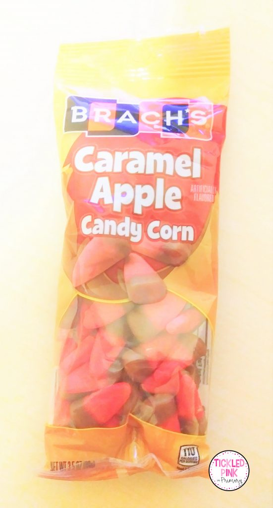 Caramel Apple Candy Corn for comparing and contrasting in October.