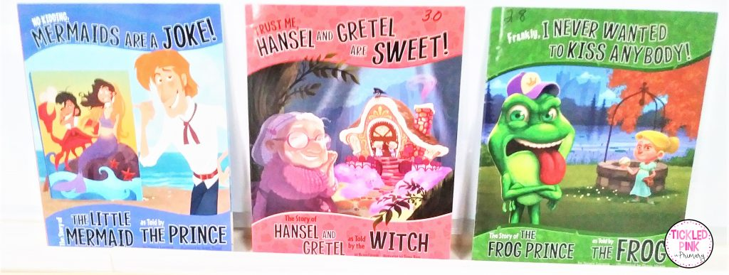 More fractured fairy tale books great for comparing and contrasting books and point of view.