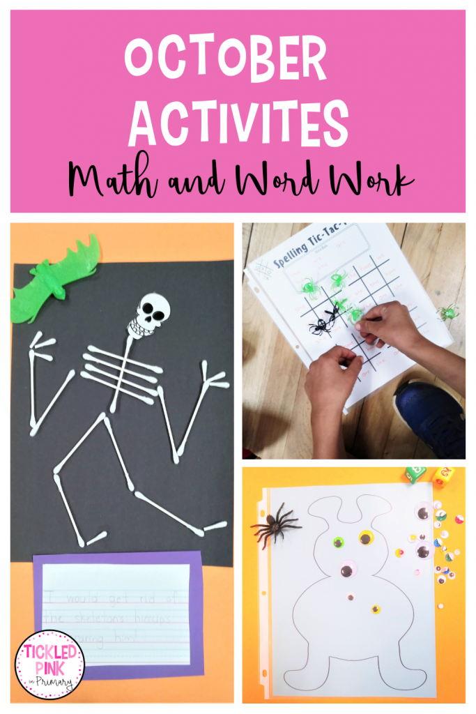 Educational activities for the month of October.