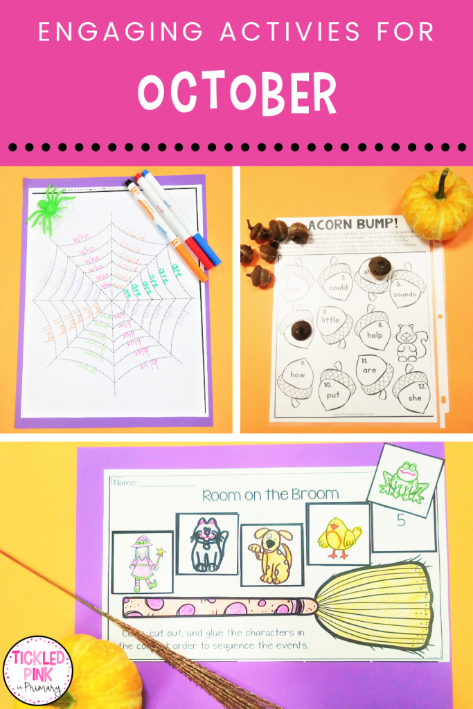 Engaging learning activities for the classroom for the month of October.