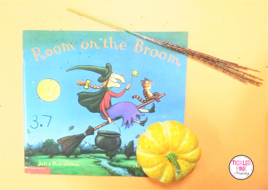Room on a Broom read aloud book great for teaching sequencing in October.