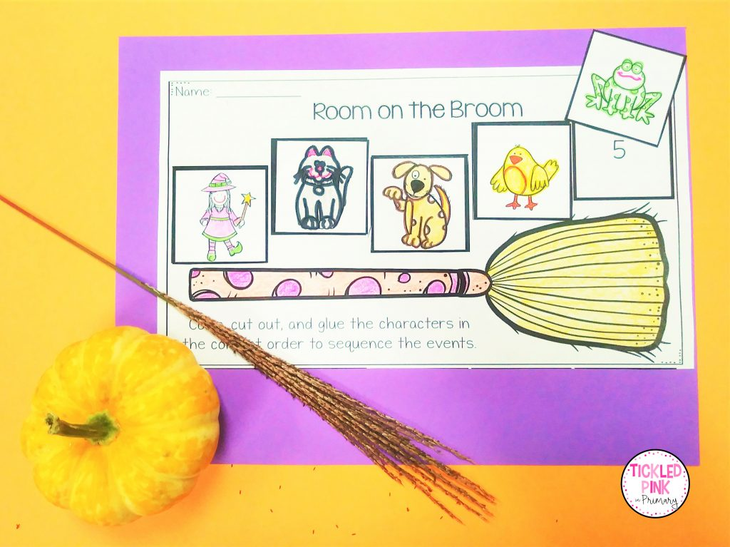 Room on a Broom sequencing activity for October.